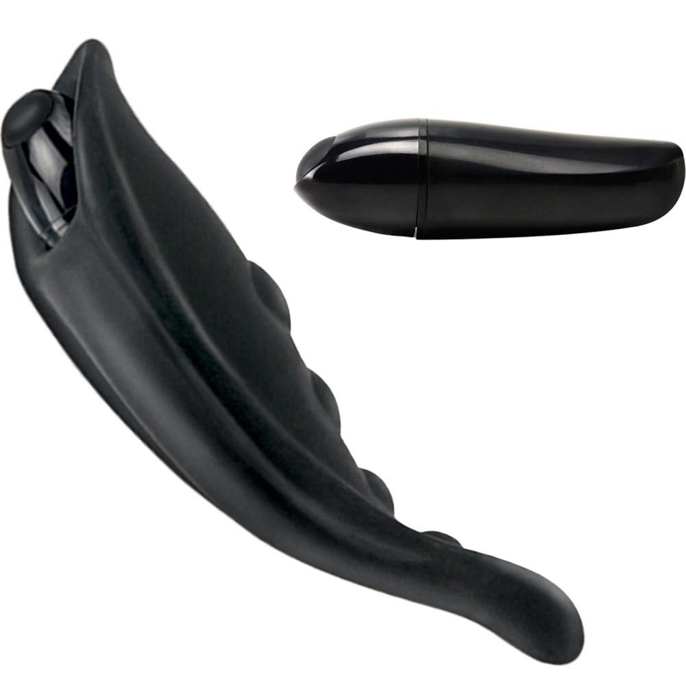 Fetish Fantasy Elite Vibrating Strap-On Liner Black - View #2
