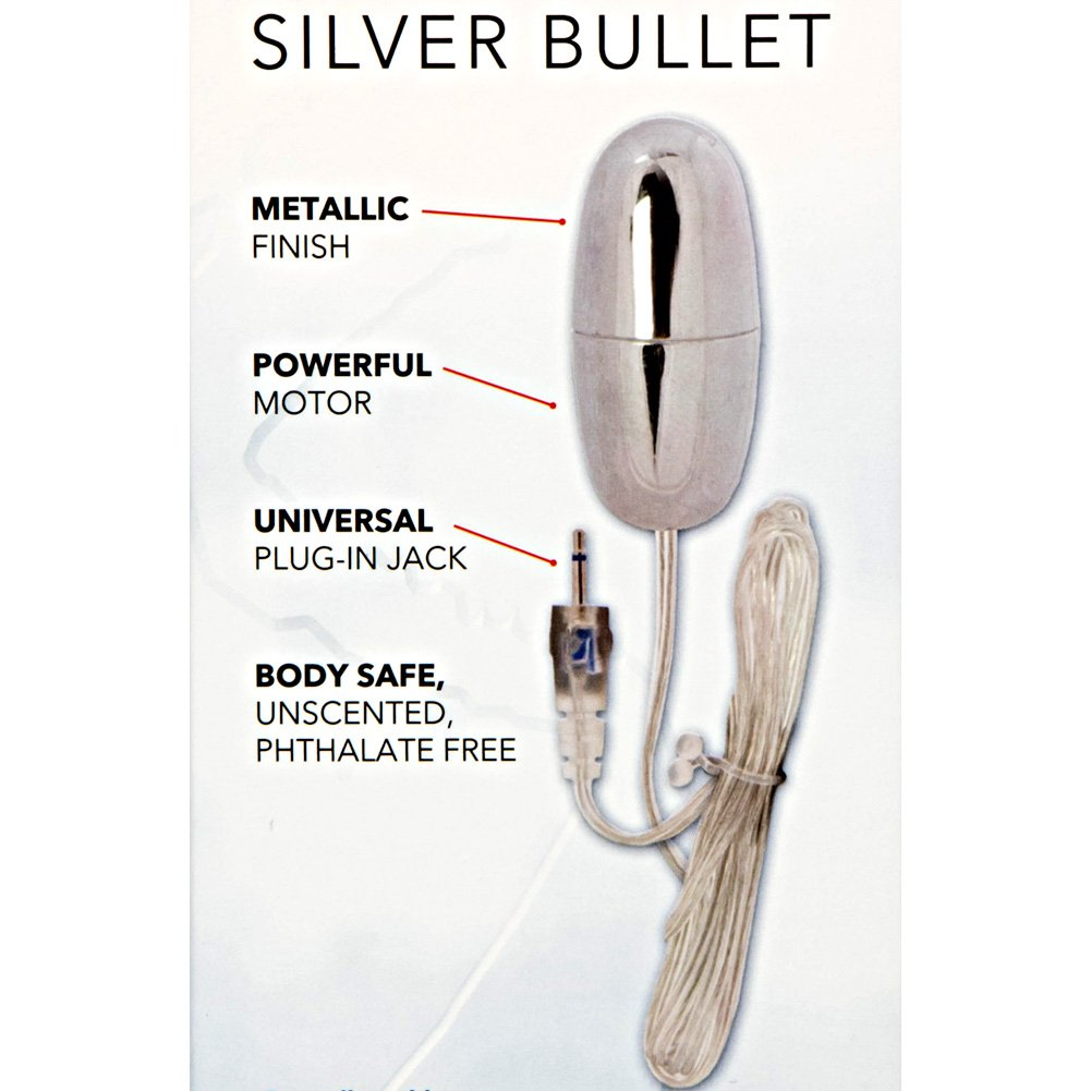 """Sterling Collection Vibrating Silver Bullet 2.25"""" - View #1"""