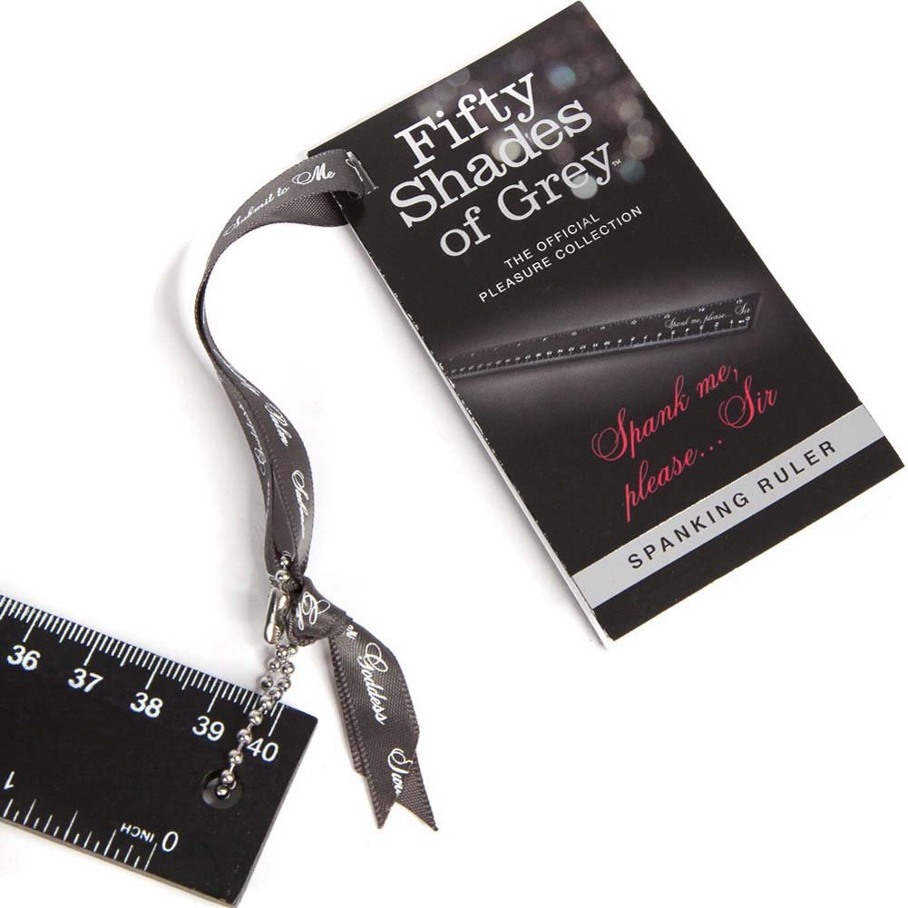 Fifty Shades of Grey Spank Me Please Spanking Ruler Black - View #1