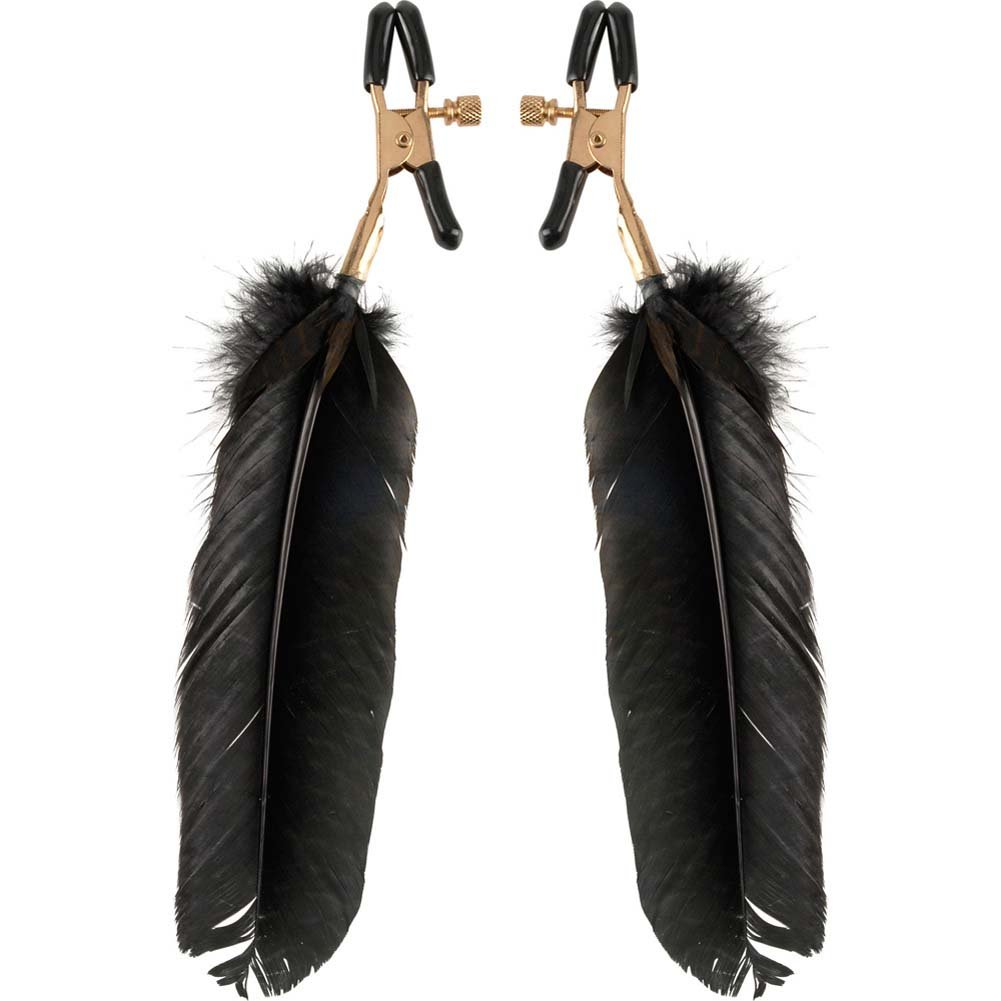 Fetish Fantasy Gold Fantasy Feather Clamps Black - View #2
