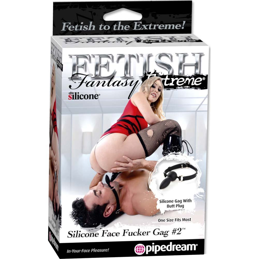 Fetish Fantasy Extreme Silicone Face Fucker Gag No. 2 Black - View #3