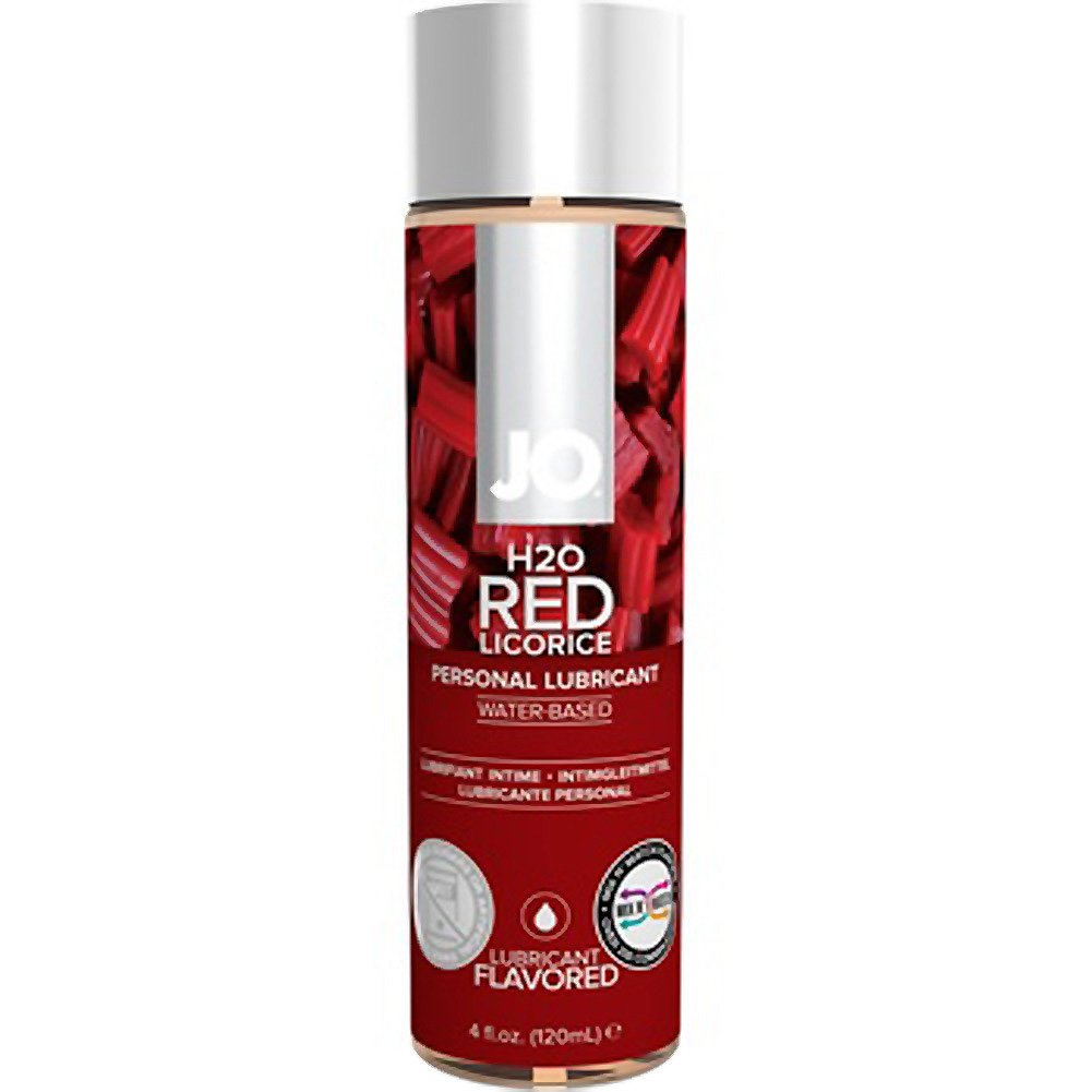 JO H2O Flavored Intimate Lubricant 4 Fl.Oz 120 mL Red Licorice - View #1