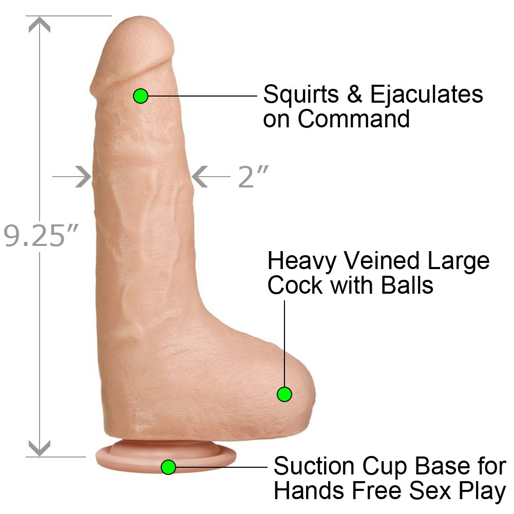 "Bust It Squirting Realistic Cock 9.25"" Natural - View #1"