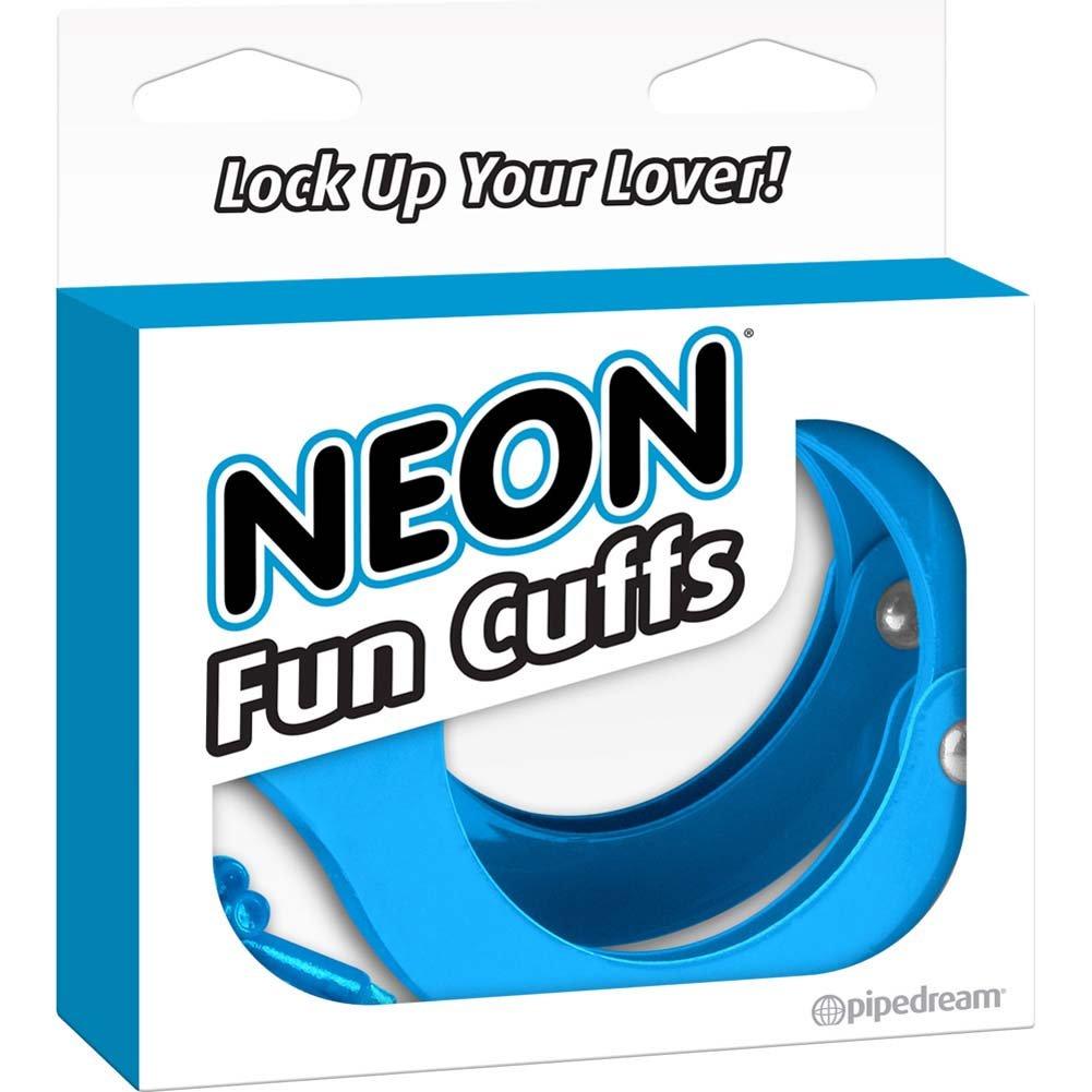 Neon Luv Touch Neon Fun Metal Cuffs Blue - View #4
