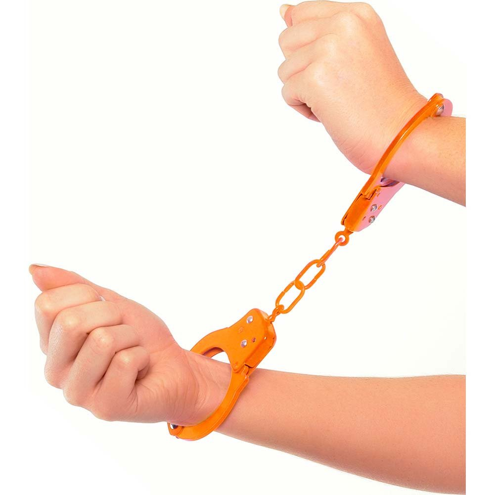 Neon Luv Touch Neon Fun Metal Cuffs Orange - View #2