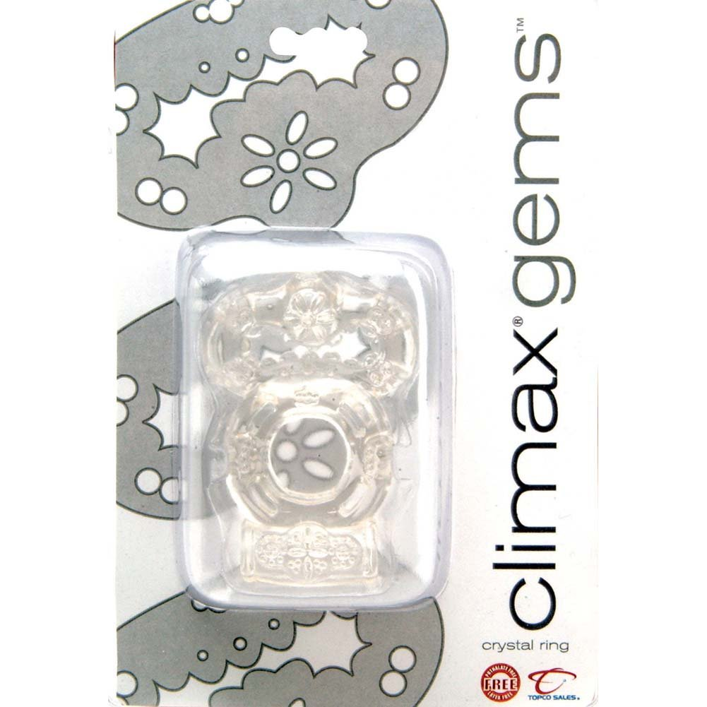 Climax Gems Vibrating Crystal Ring Clear - View #1