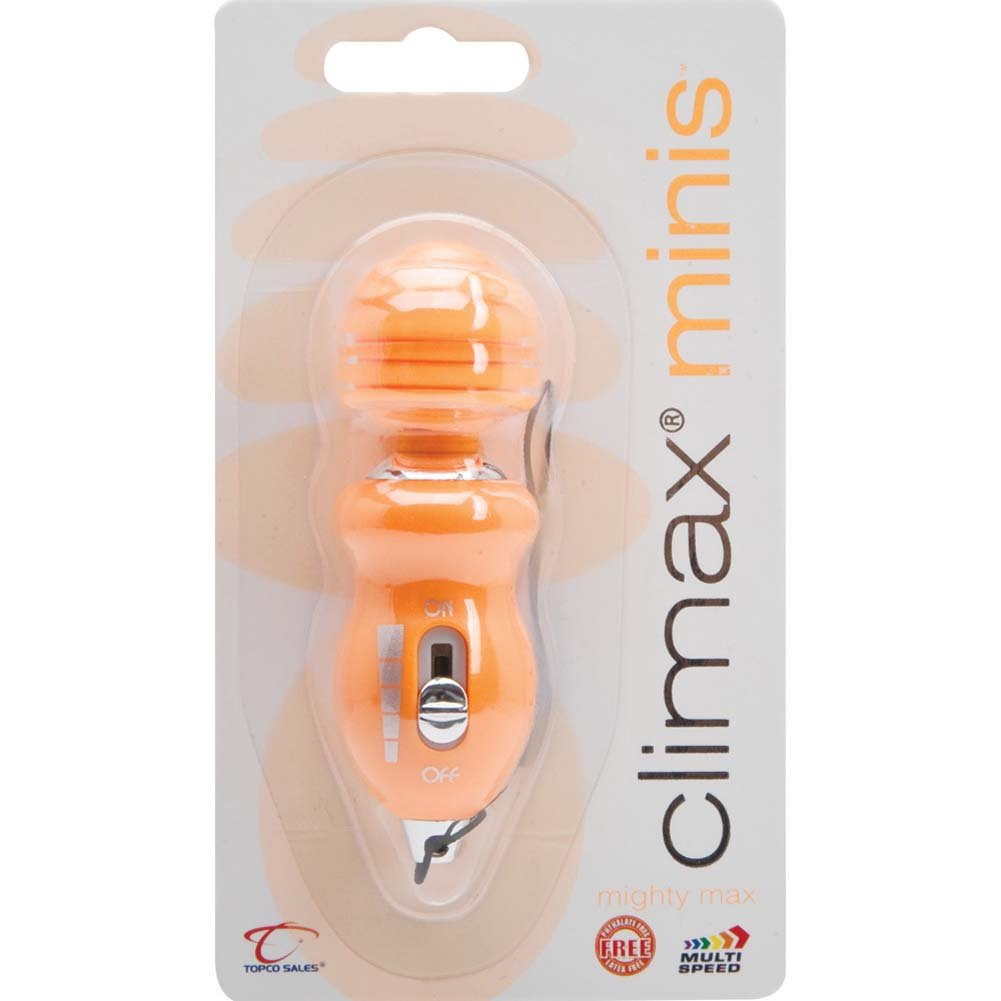 Climax Minis Mighty MCX Vibrating Mini Massager Orange - View #1