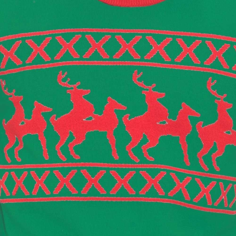 Forum Novelties Ugly Christmas Reindeer Games Holiday Sweater Extra Large - View #1