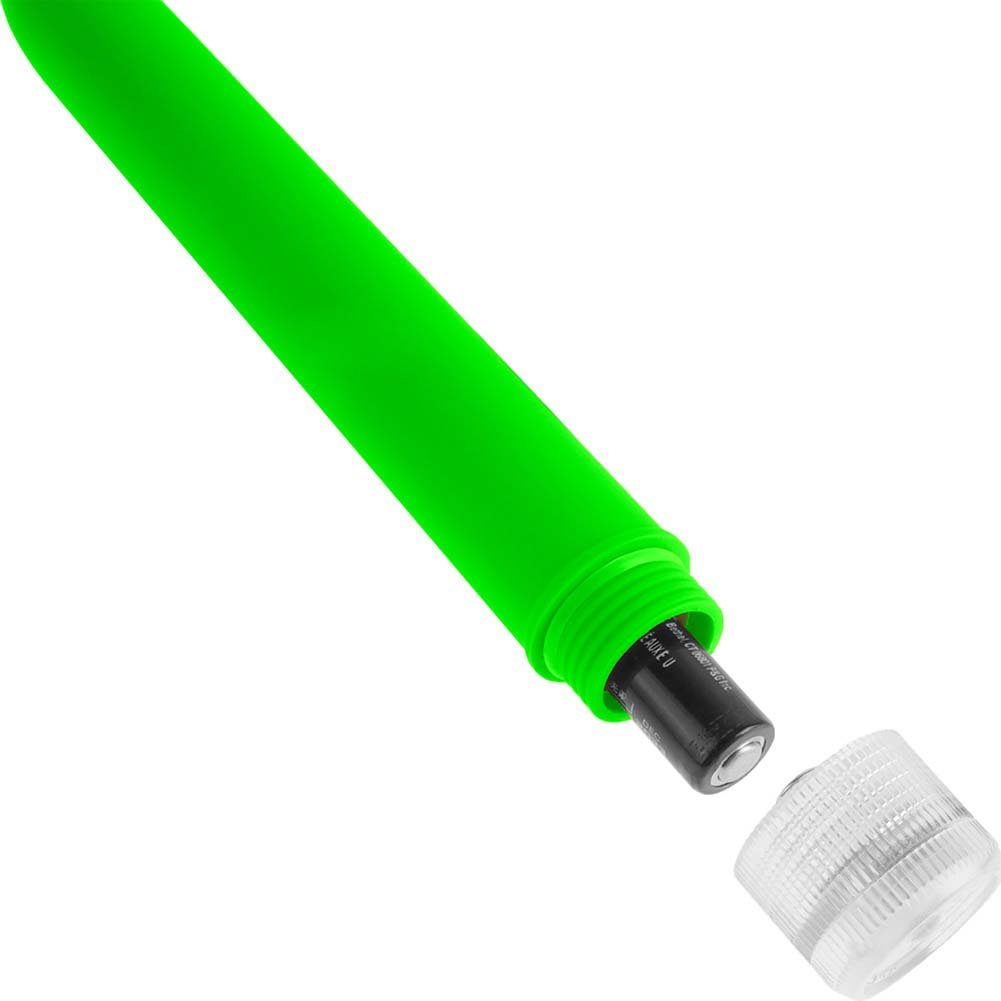 "Neon Luv Touch Slims Vibrator 5.75"" Green - View #3"