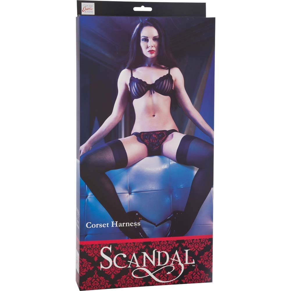 CalExotics Scandal Corset Harness Red/Black - View #4