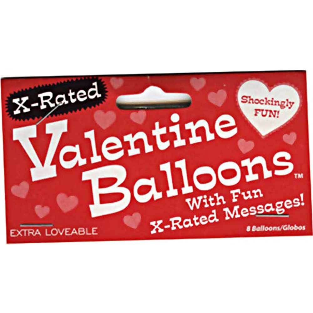 X-Rated Valentine Balloons Pack of 8 Red Heart Shaped Ballons - View #1