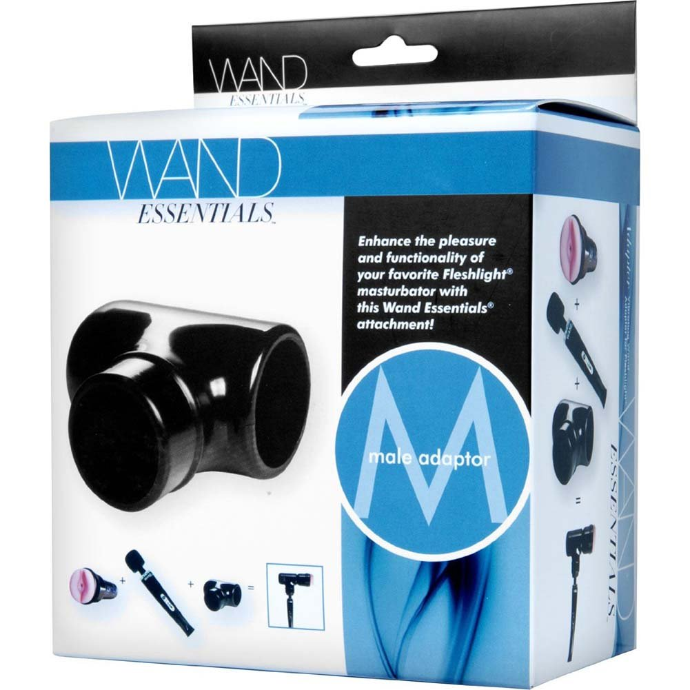 Wand Essentials Vibrating Wand Massager Adapter for Fleshlight Black - View #4