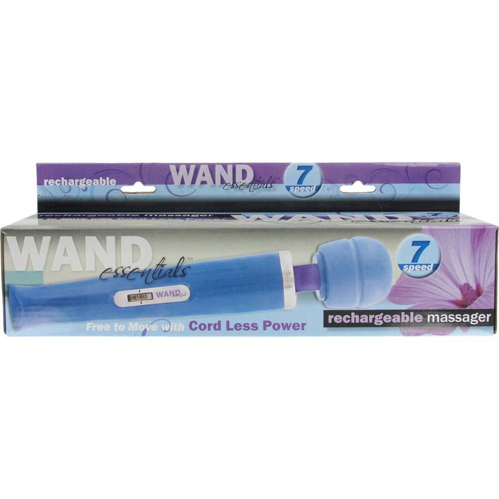 "Wand Essentials Rechargeable 7 Speed Wand Massager 12.25"" Blue - View #1"