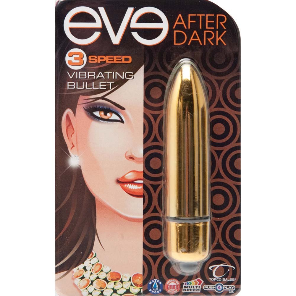 "Eve After Dark Vibrating Bullet 3.25"" Honey Gold - View #1"
