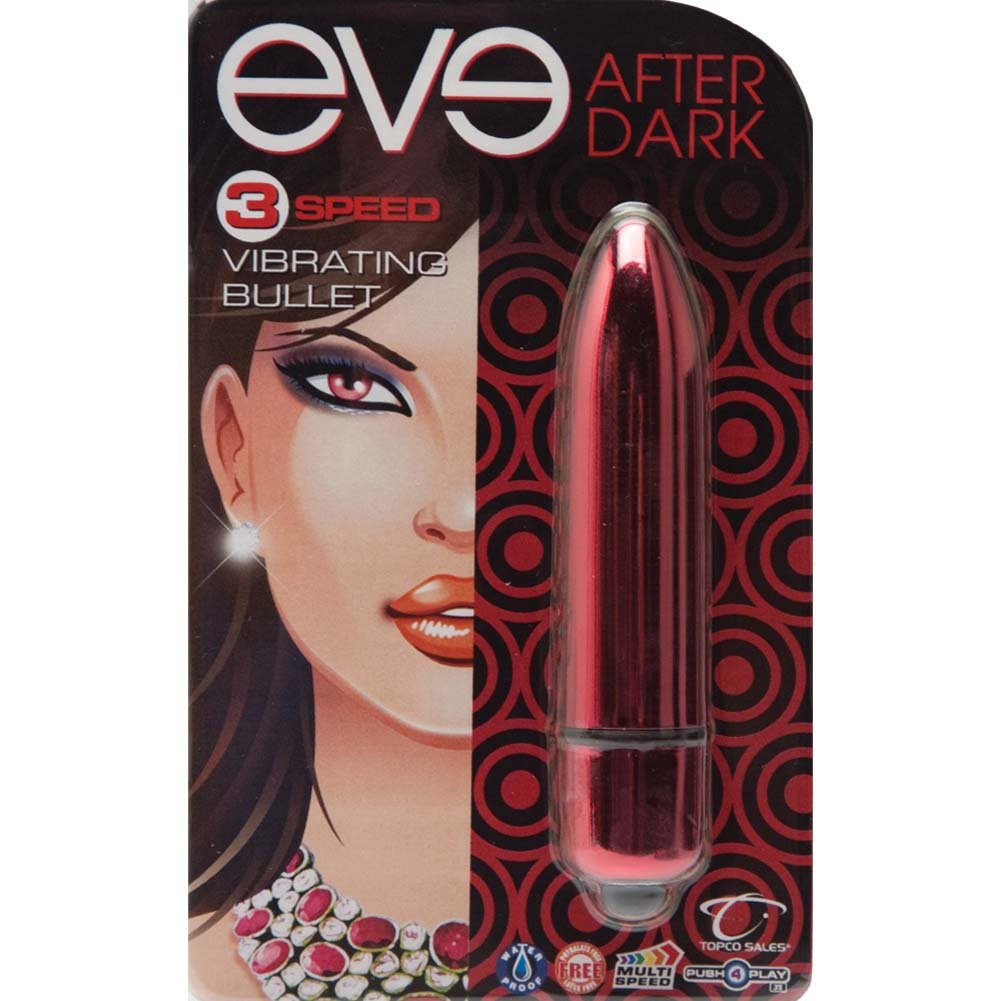 "Eve After Dark Vibrating Bullet 3.25"" Crimson Red - View #1"
