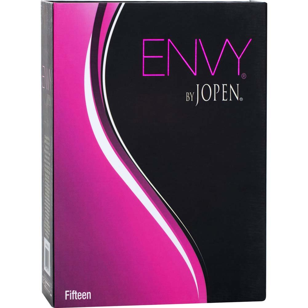 "Envy by Jopen Fifteen Rechargeable Silicone Vibrating Panty Teaser 3.5"" Pink - View #3"