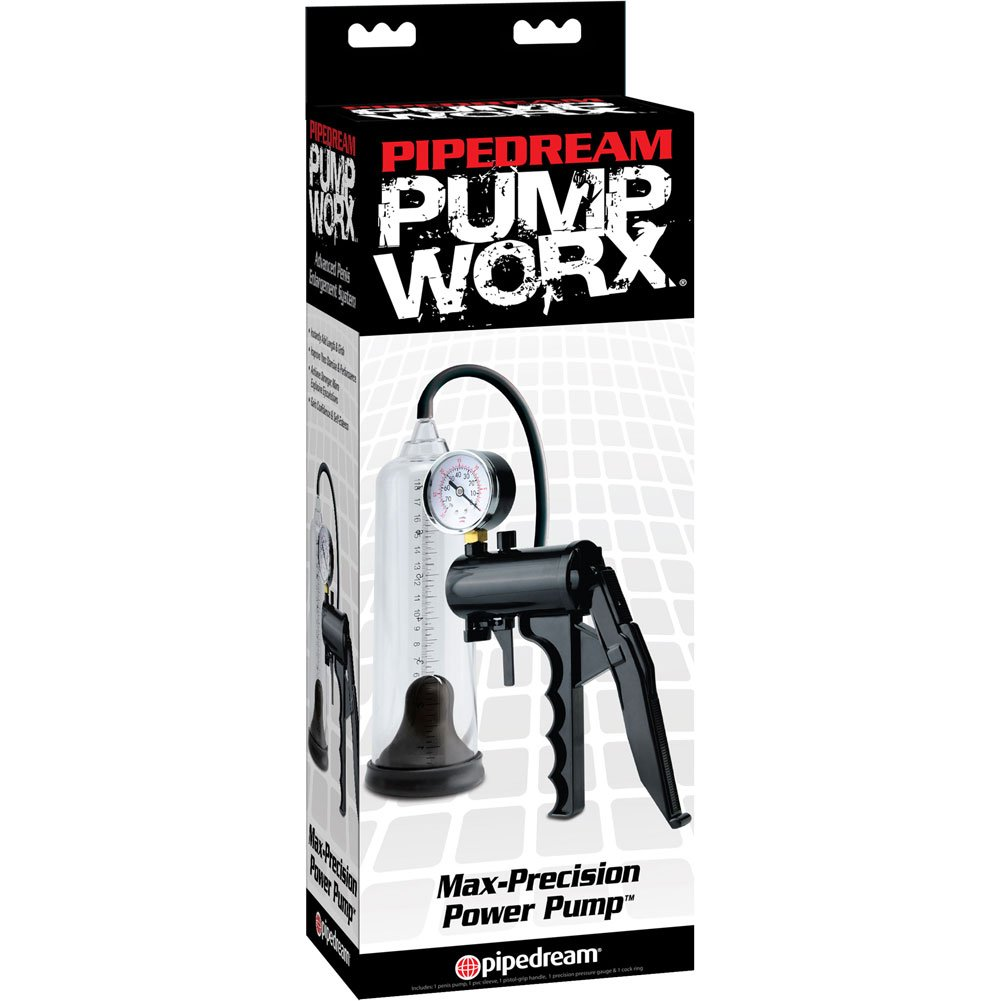 Pump Worx Max Precision Power Penis Pump Black - View #4