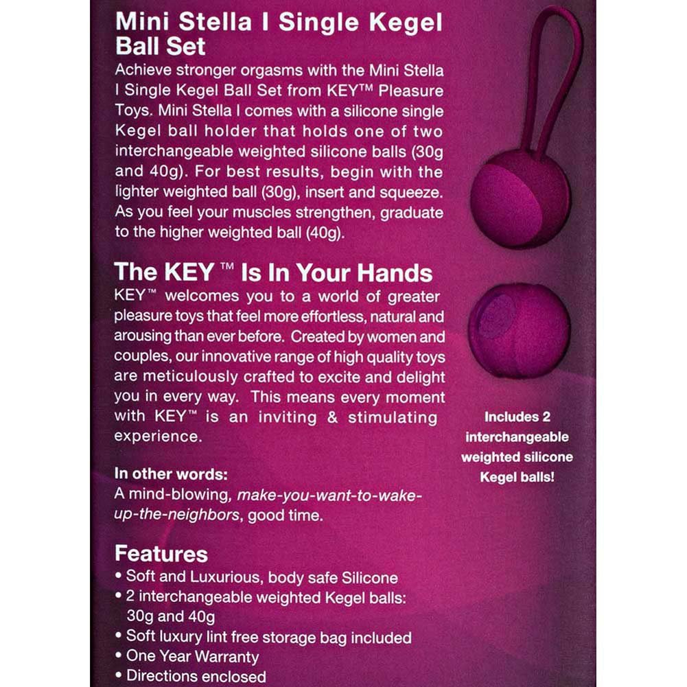 "Key by Jopen Mini Stella I Kegel Ball Set 3.25"" Pink - View #3"