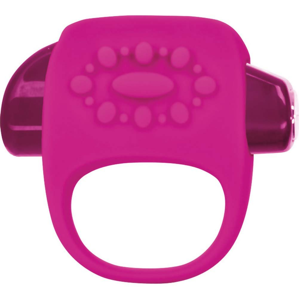 Key by Jopen Halo Vibrating Silicone Cock Ring Pink - View #2
