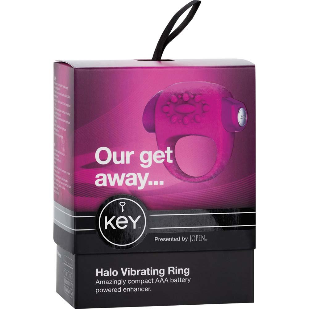 Key by Jopen Halo Vibrating Silicone Cock Ring Pink - View #4