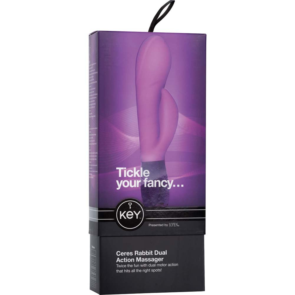 "Key by Jopen Ceres Rabbit Silicone Vibrator 7.5"" Lavender - View #3"