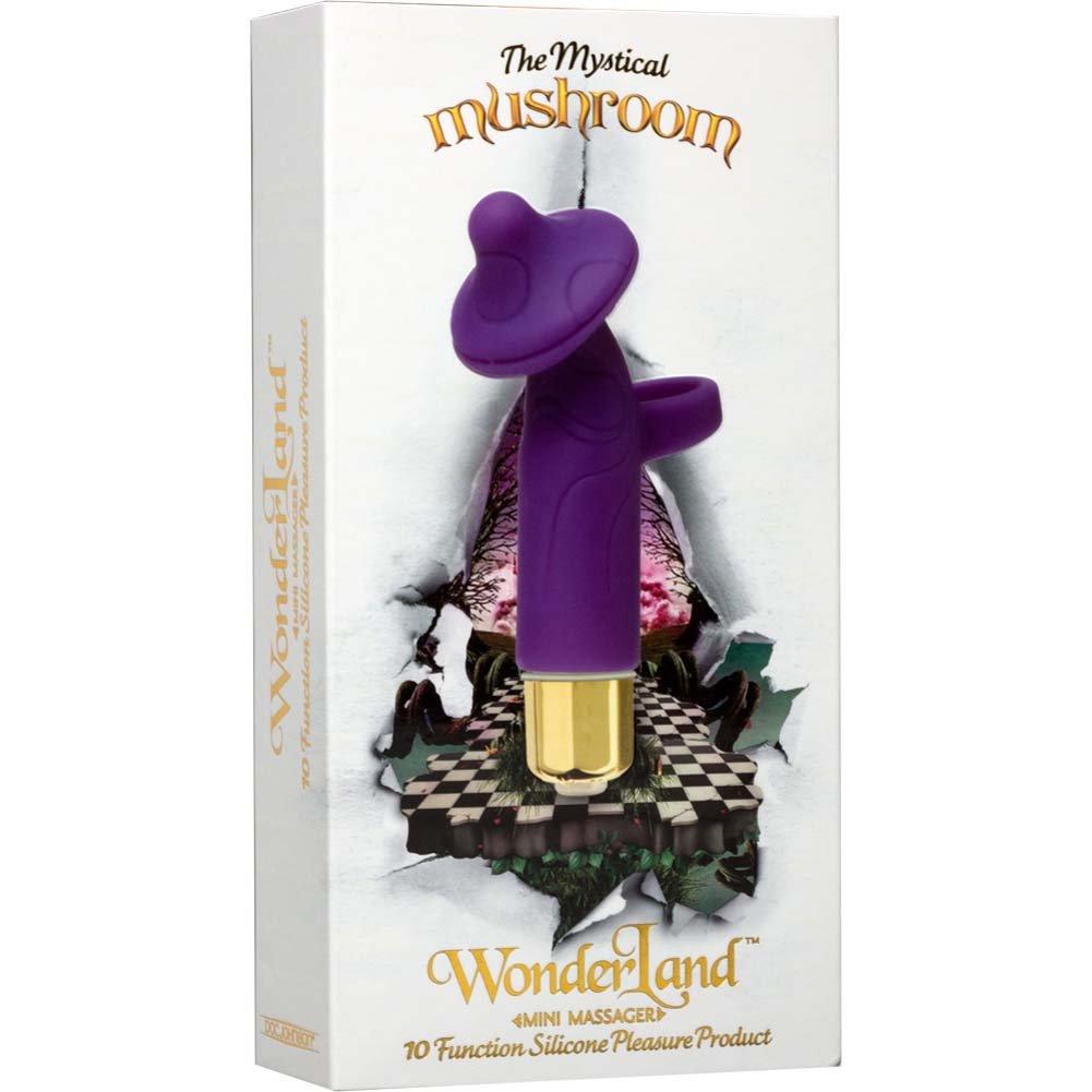 "WonderLand Mystical Mushroom Silicone Vibrating Mini Massager 4"" Purple - View #3"