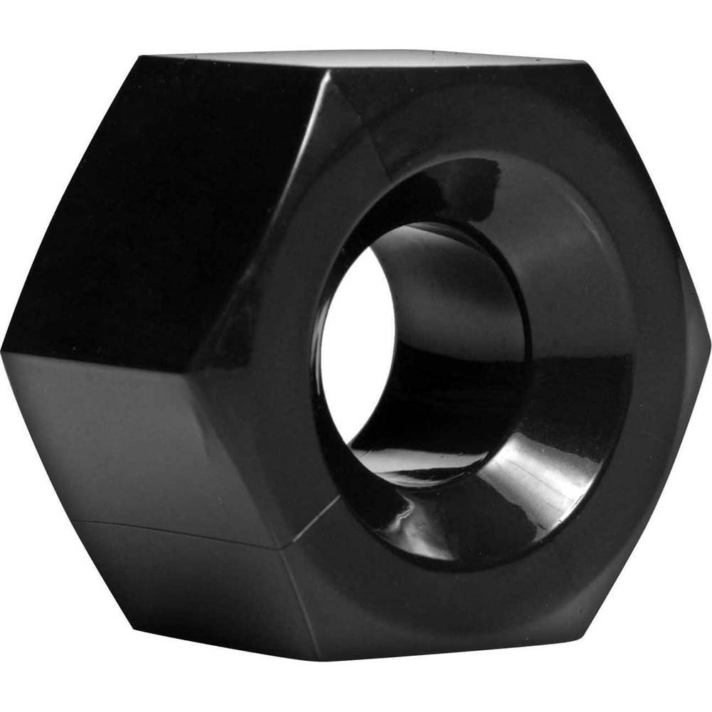 Master Series Hex Cock Ring and Ball Stretcher Black - View #2
