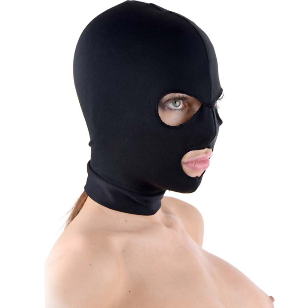 Master Series Spandex Hood with Mouth and Eye Opening Black - View #1