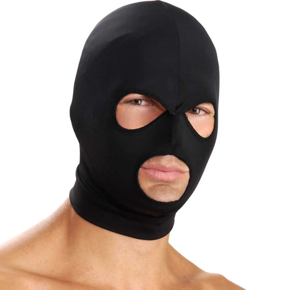 Master Series Spandex Hood with Mouth and Eye Opening Black - View #3