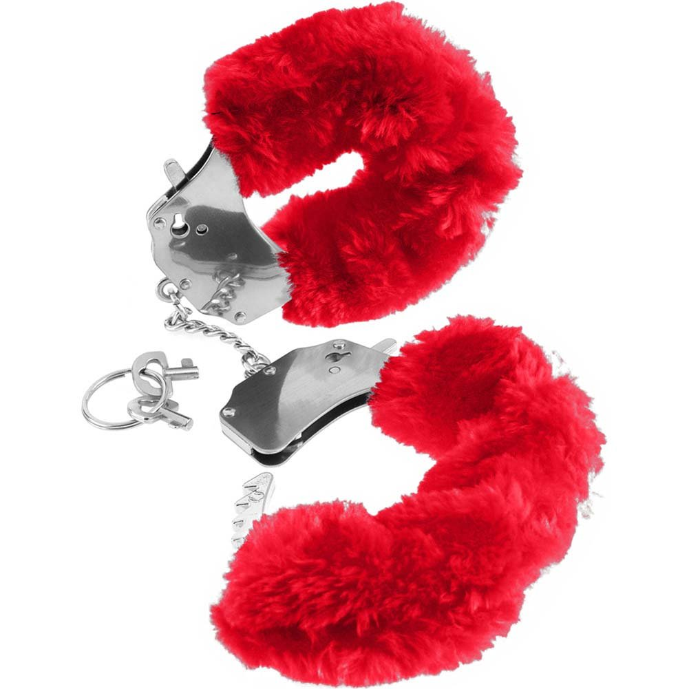 Fetish Fantasy Series Original Furry Cuffs Red - View #1