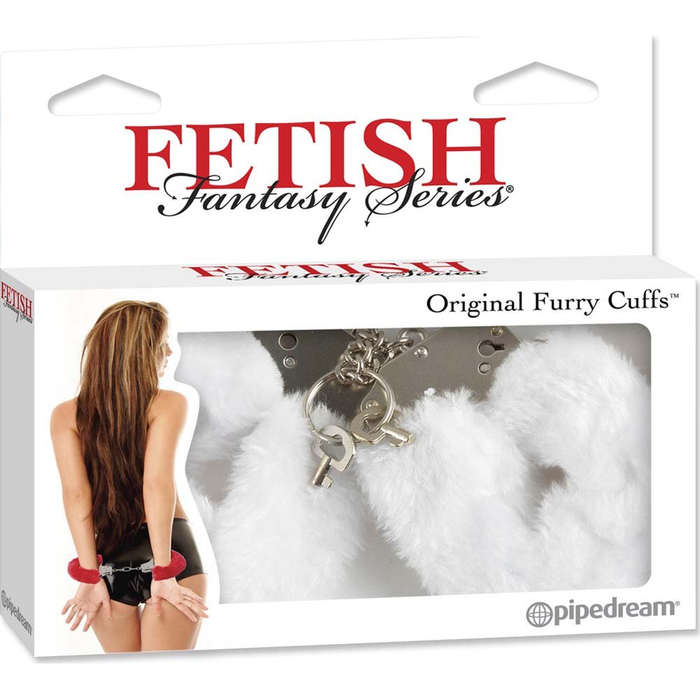 Fetish Fantasy Series Original Furry Cuffs White - View #4