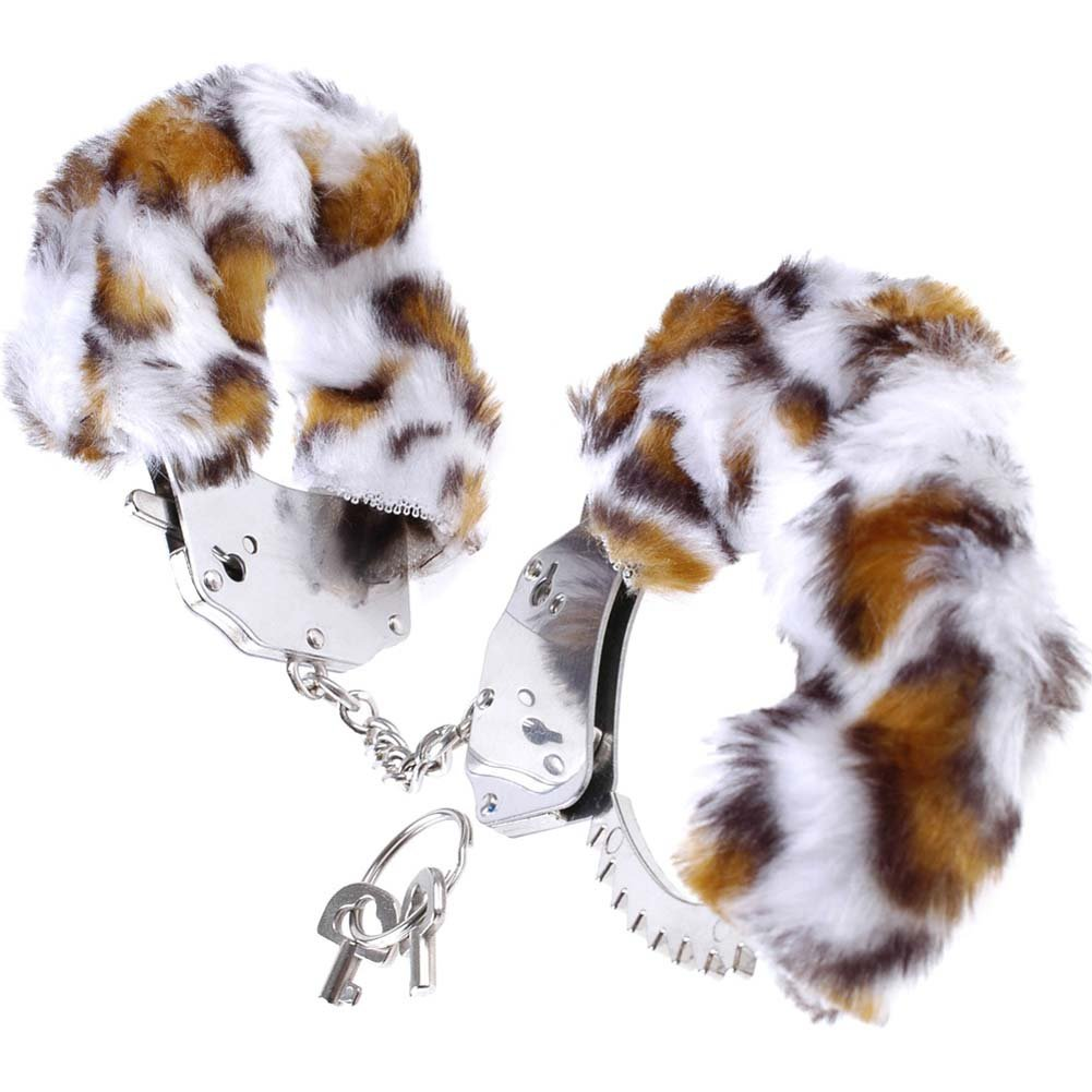 Fetish Fantasy Series Original Furry Cuffs Leopard - View #2