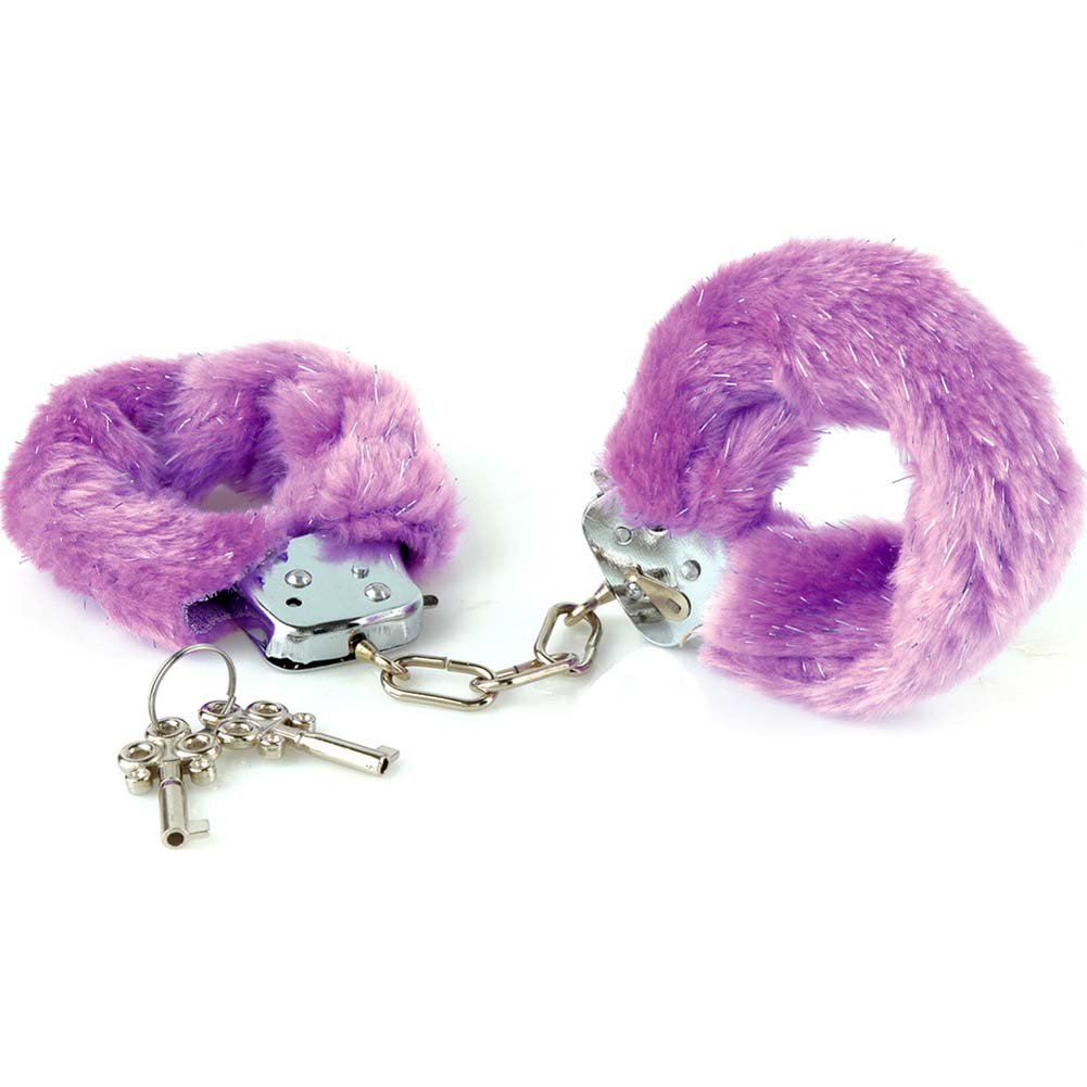 Fethis Fantasy Fancy Furry Cuffs Purple - View #2