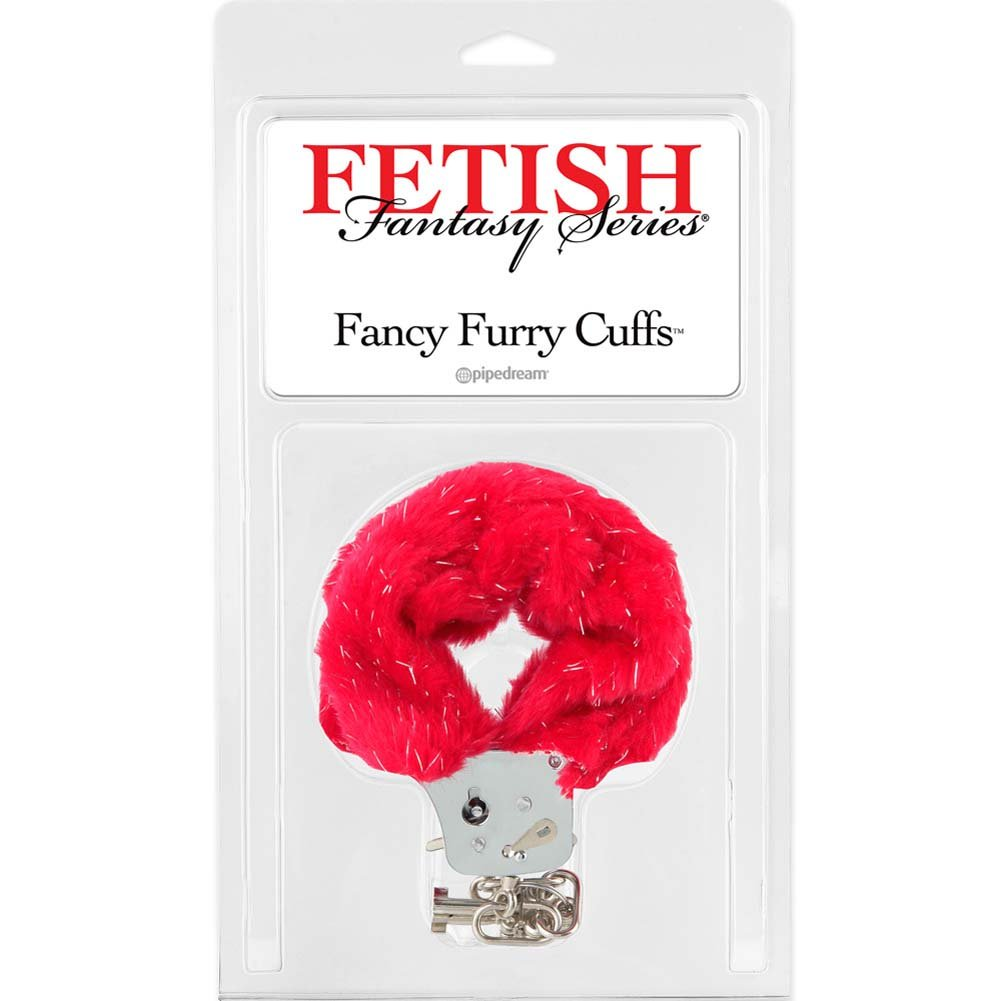 Fethis Fantasy Fancy Furry Cuffs Red - View #1