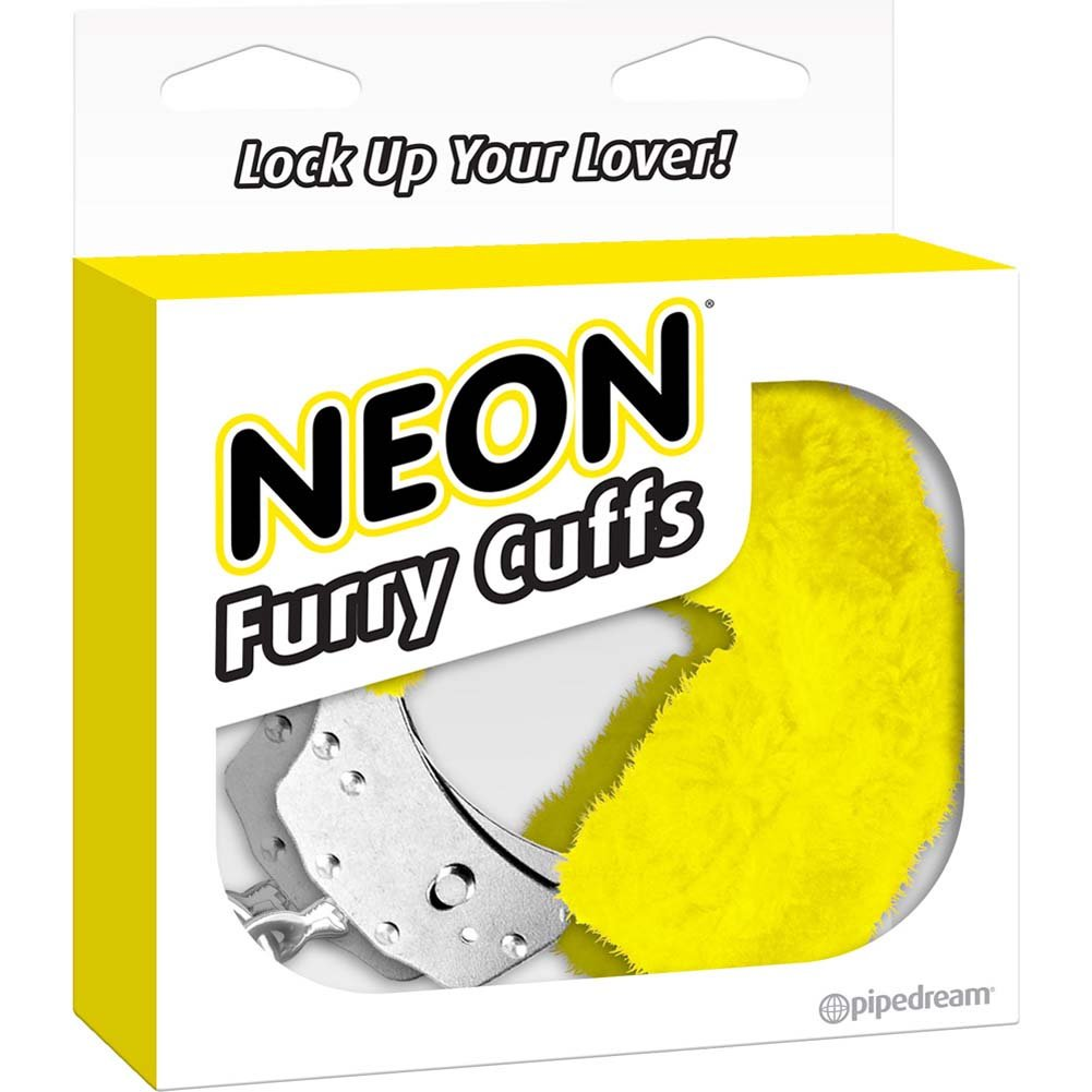Neon Luv Touch Neon Furry Cuffs Yellow - View #4