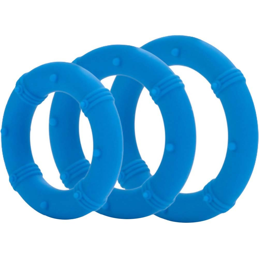 Posh Silicone Love Rings Set Blue - View #2