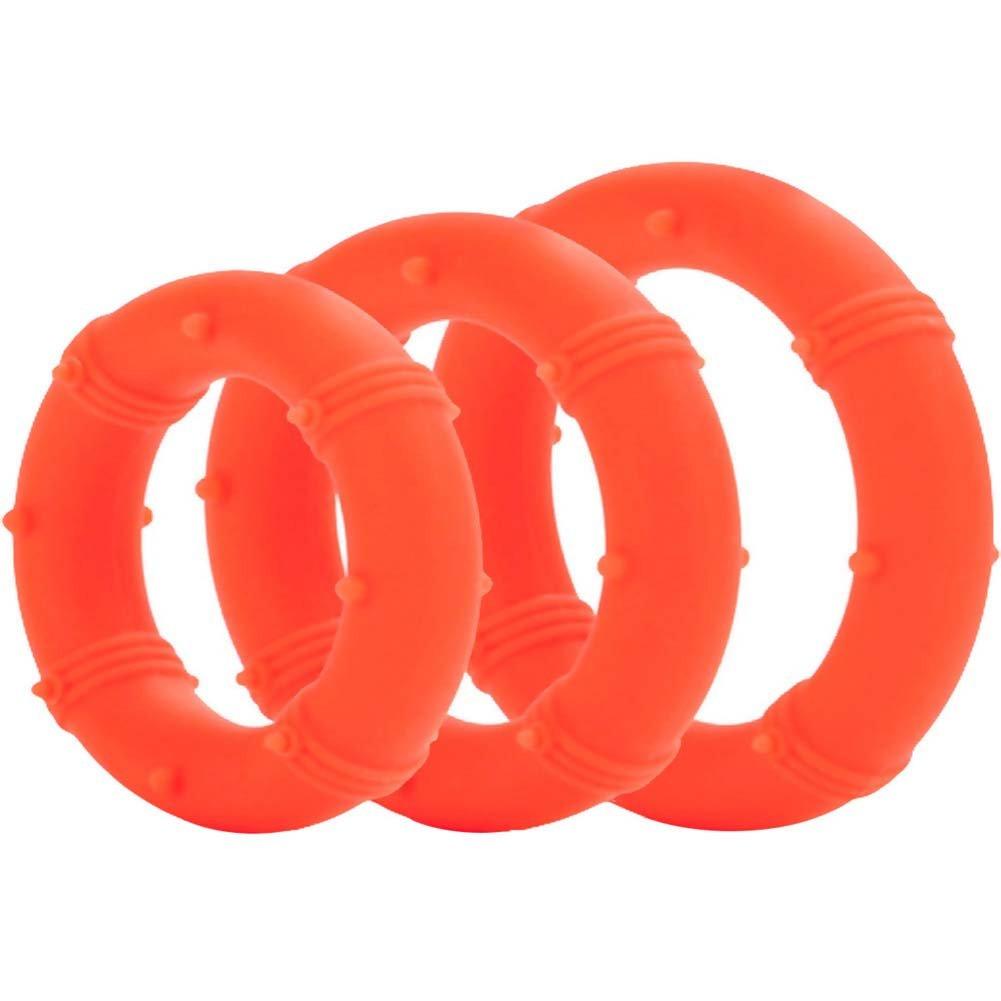 Posh Silicone Love Rings Set Orange - View #2