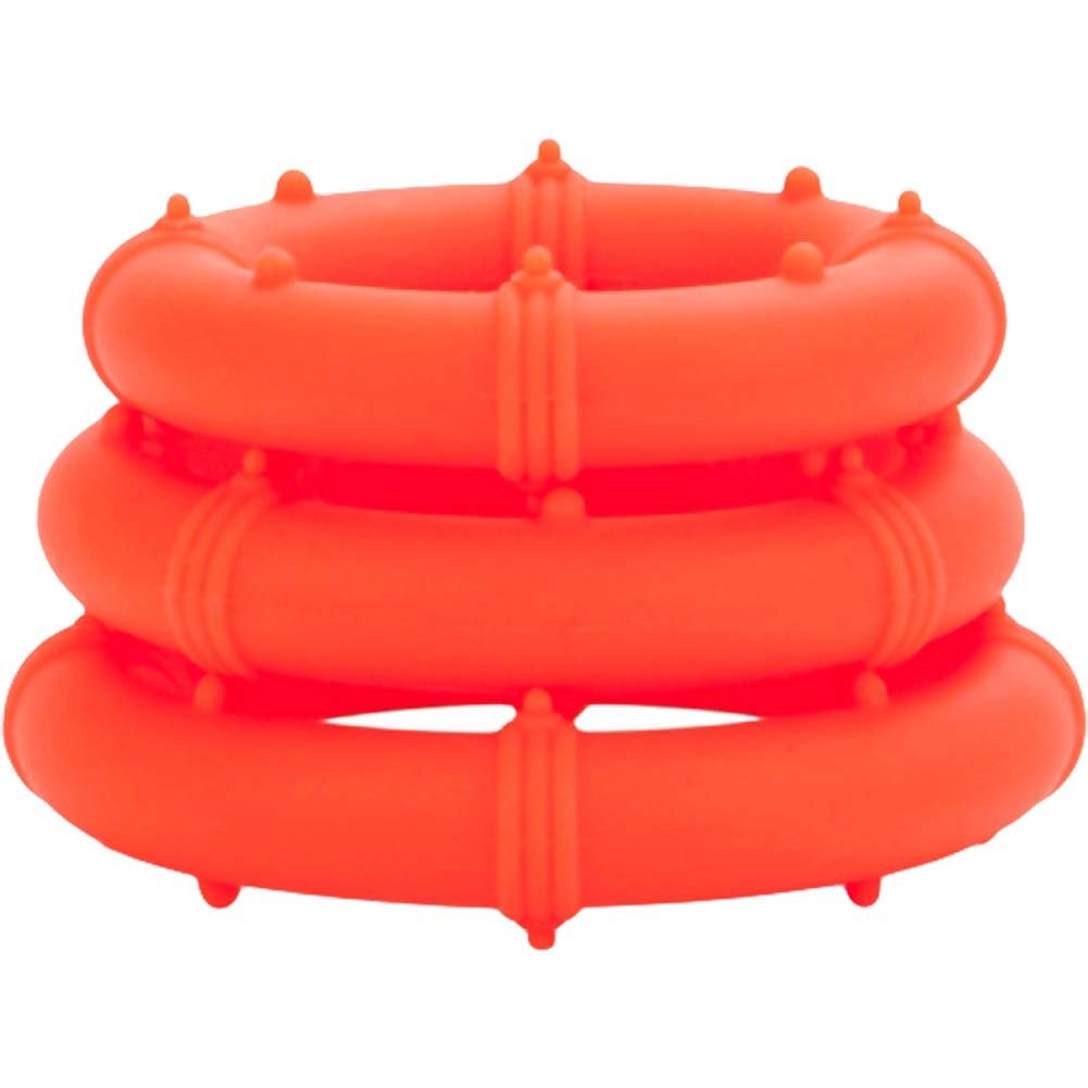 Posh Silicone Love Rings Set Orange - View #4