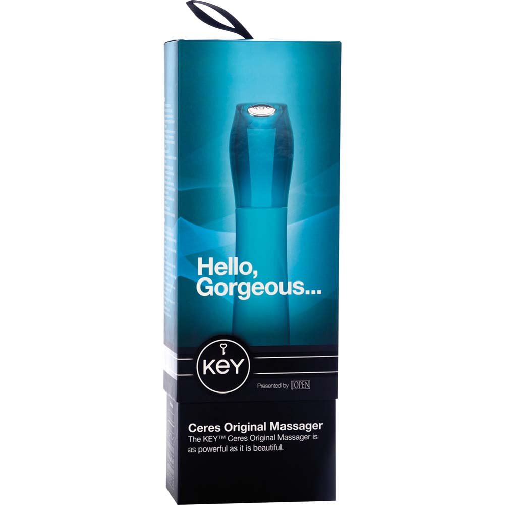 "Key by Jopen Ceres Original Silicone Vibrator 7.5"" Blue - View #4"