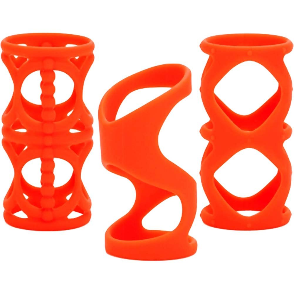 "Posh Silicone LoverS Cage 3"" Orange - View #4"
