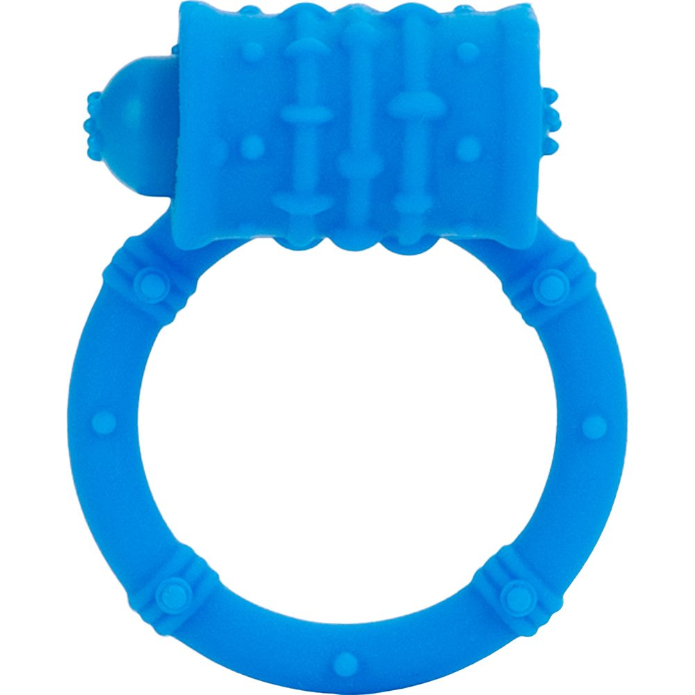 Posh Silicone Vibro Ring Blue - View #3