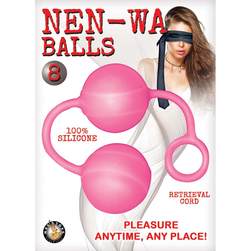 "Nen-Wa Balls Silicone Weighted Kegel Balls 8"" Pink - View #1"