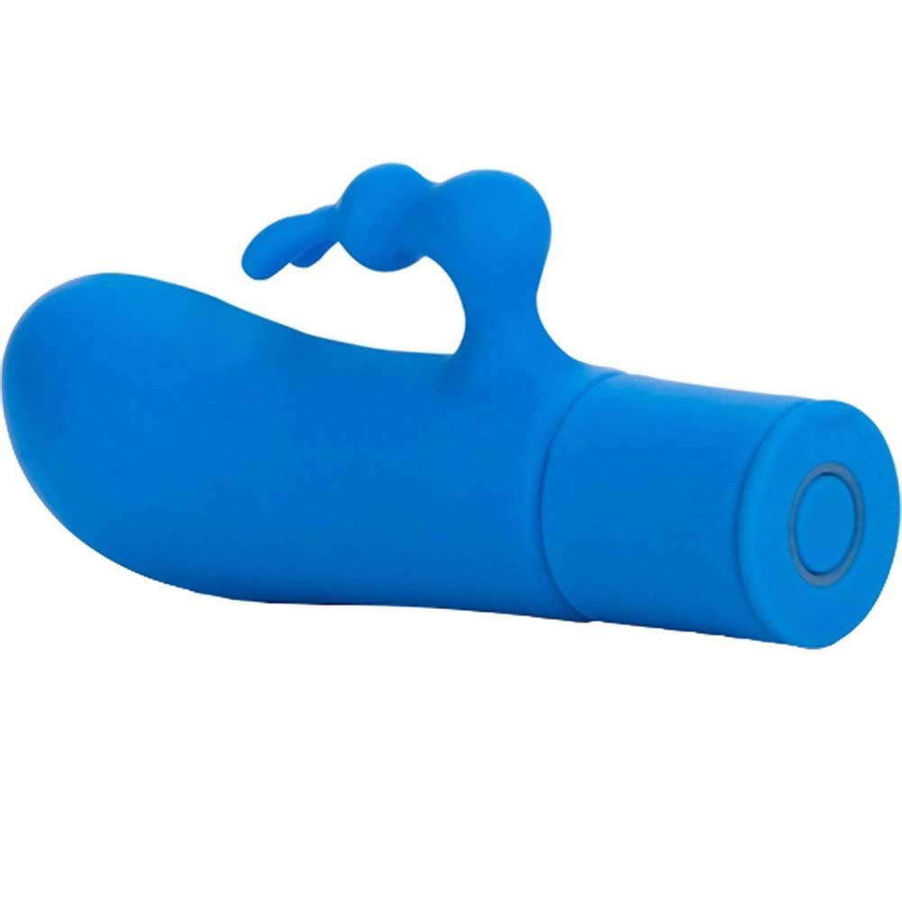 "Posh 10 Function Pocket Pleaser Silicone Vibe 4"" Blue - View #4"