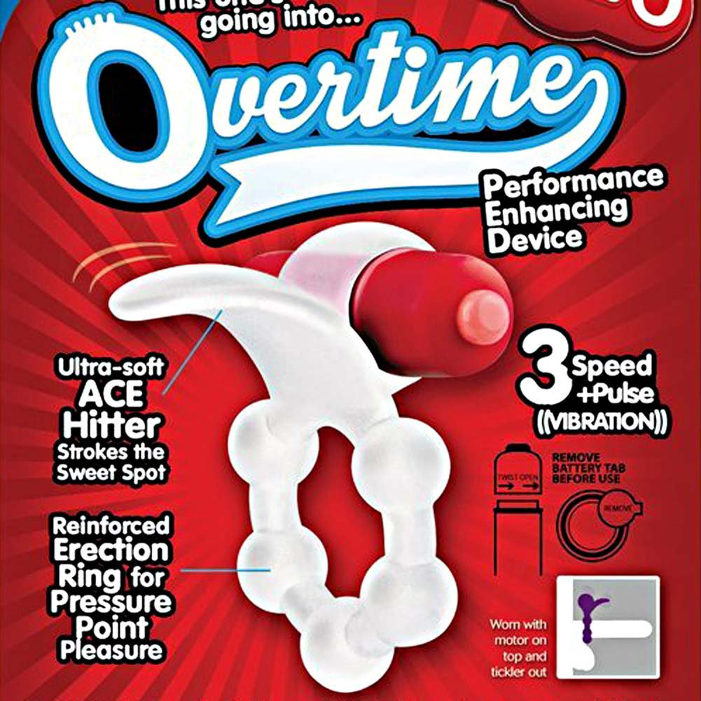 Screaming O Overtime Vibrating Erection Ring Red - View #1