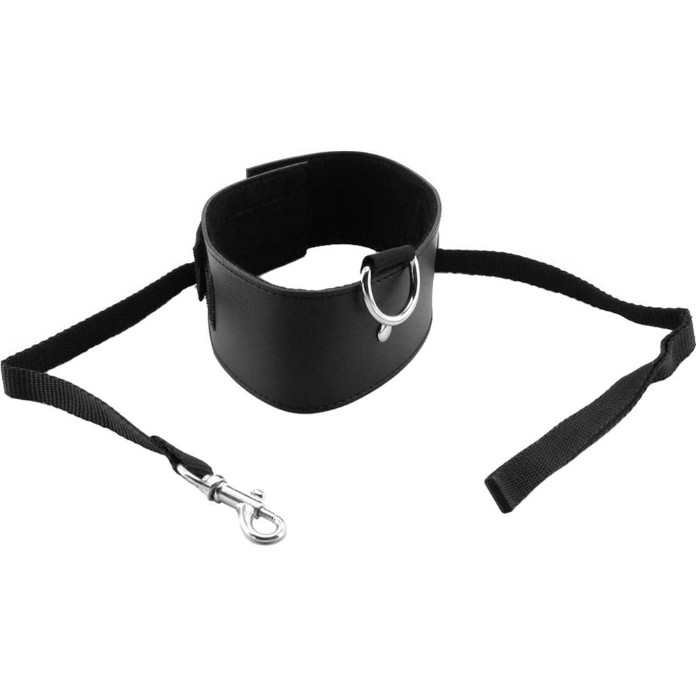 Sex and Mischief SM Leash and Collar Black - View #3