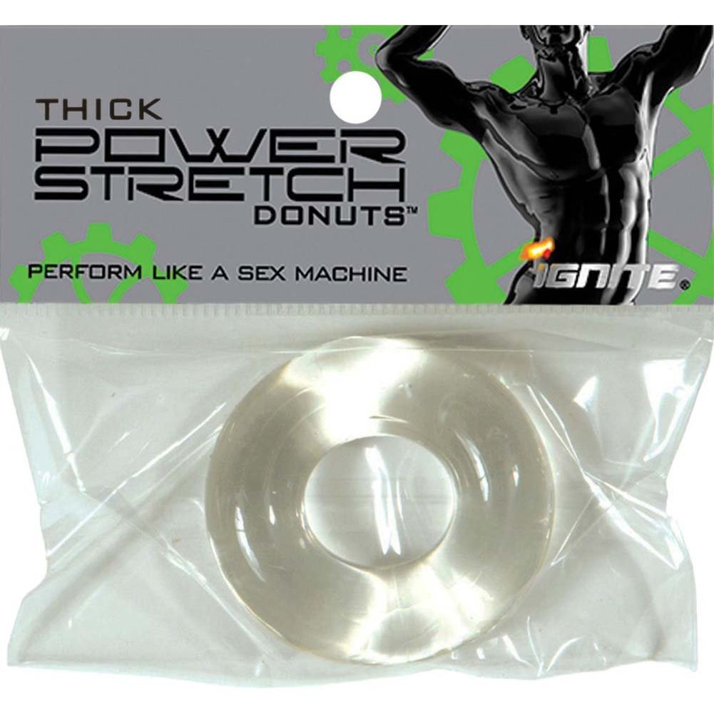 "Ignite Thick Power Stretch Donut Cock Ring 1.25"" Clear - View #1"