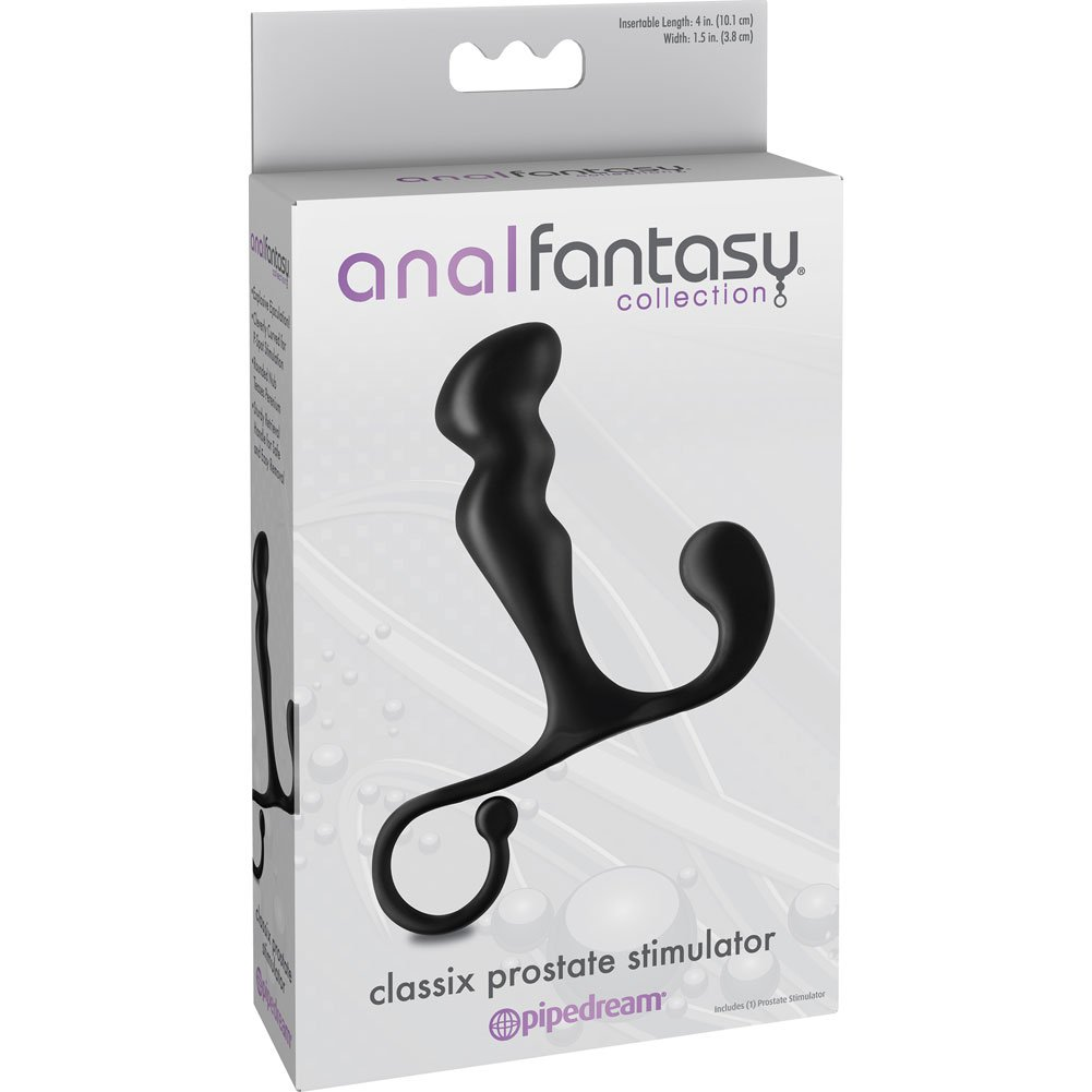 "Anal Fantasy Collection Classix Prostate Stimulator 6"" Black - View #1"