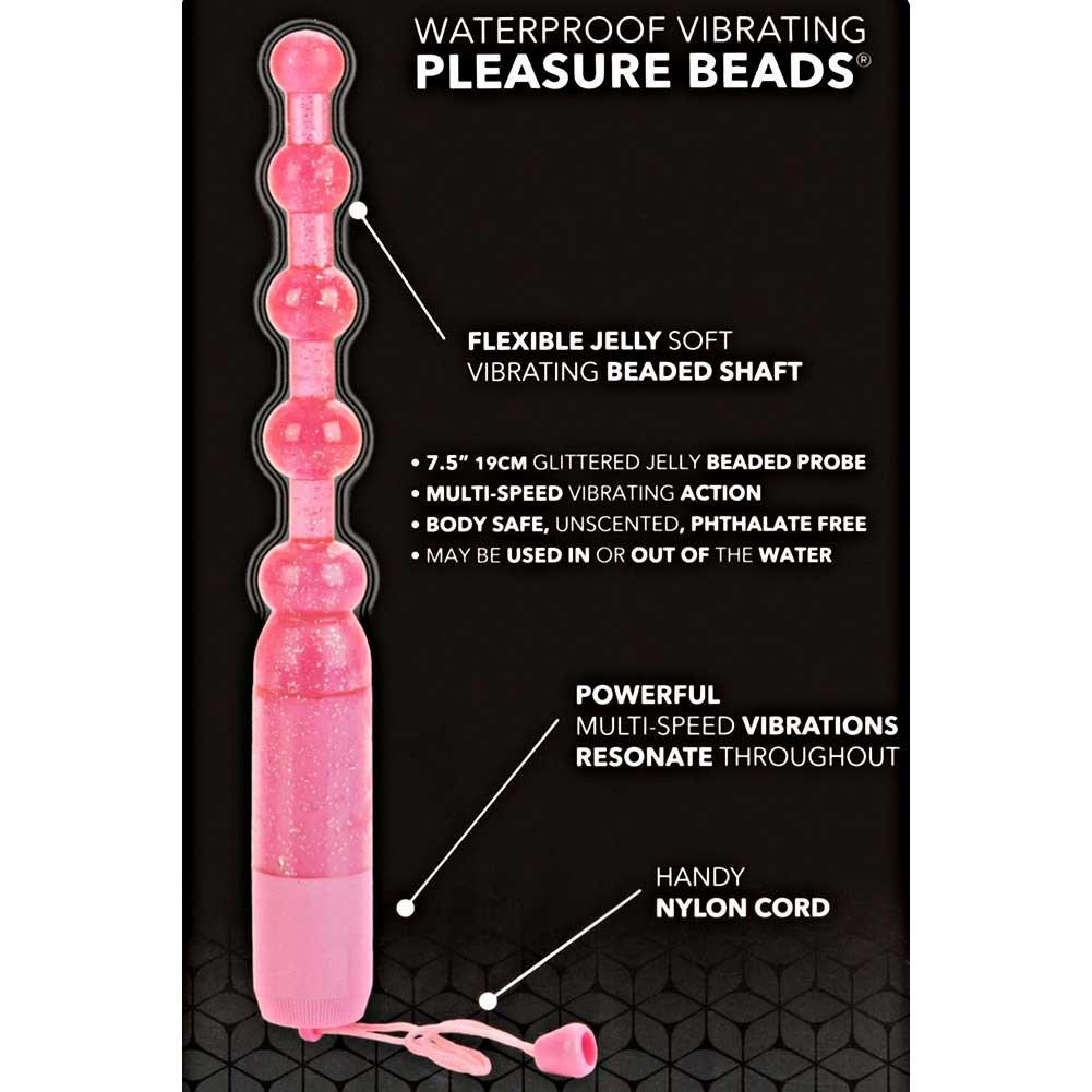 "Waterproof Vibrating Pleasure Jelly Beads 7.5"" Pink - View #1"