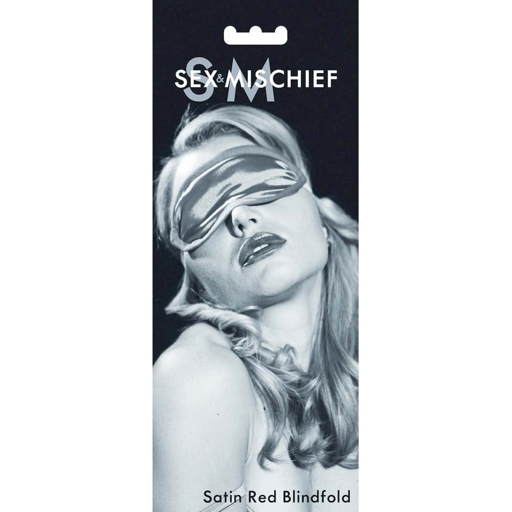Sex and Mischief SM Satin Blindfold Eye Mask Red - View #1