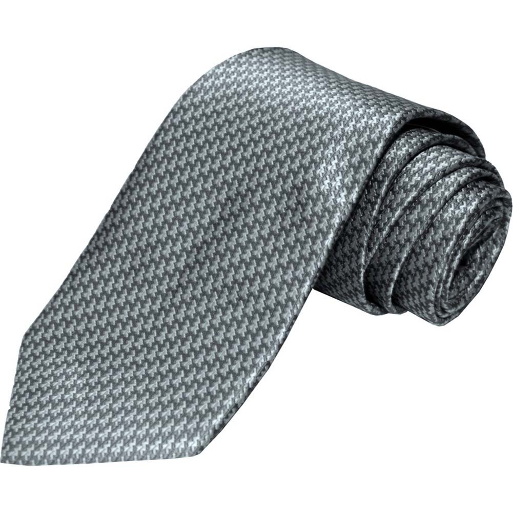 OptiSex Shades of Silver Christian Premium Woven Tie Grey - View #2